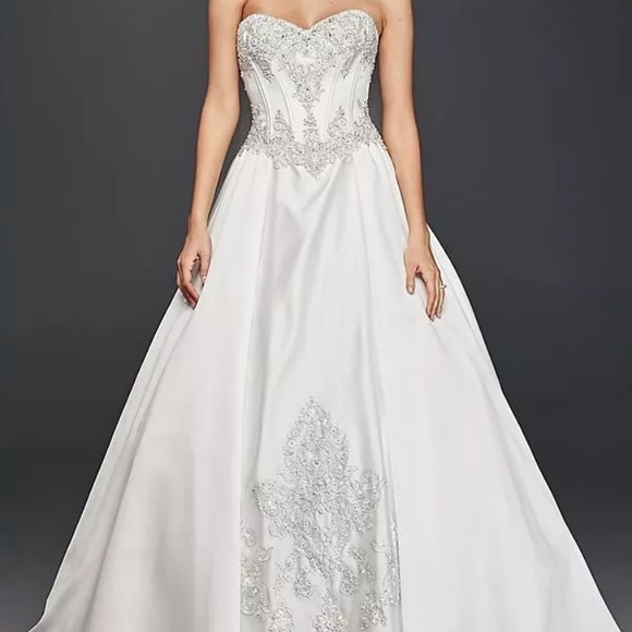 71878428d25 David s Bridal satin ball gown wedding WG3814